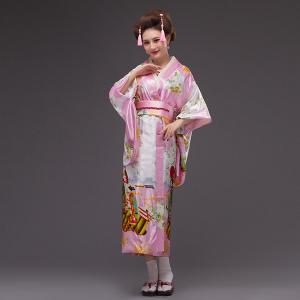 Japanese imported and peacock traditional ladies and kimono bathrobes stage  costumes cherry blossom clogs improvement 489656296
