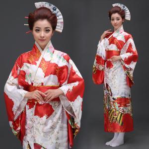 Japanese lady style adult kimono traditional formal dress cos stage  performance Nightgown bathrobe and kimono c091c7f8f